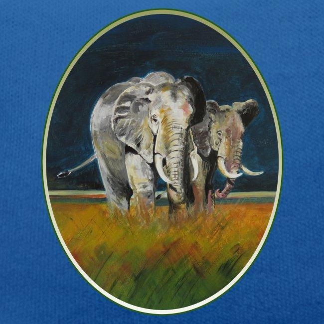 Savannen-Elefanten in Afrika