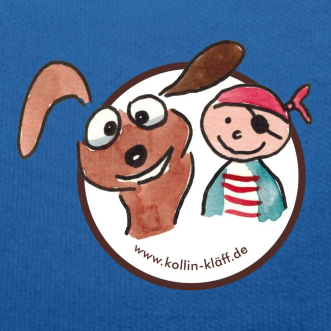 Kollin Kläff - Hund und Pirat für T-Shirt und co