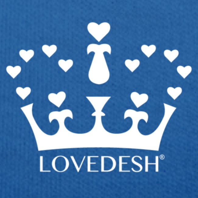 White Lovedesh Crown, Ethical Luxury - With Heart