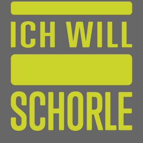 Ich will Schorle grün - Frauen T-Shirt