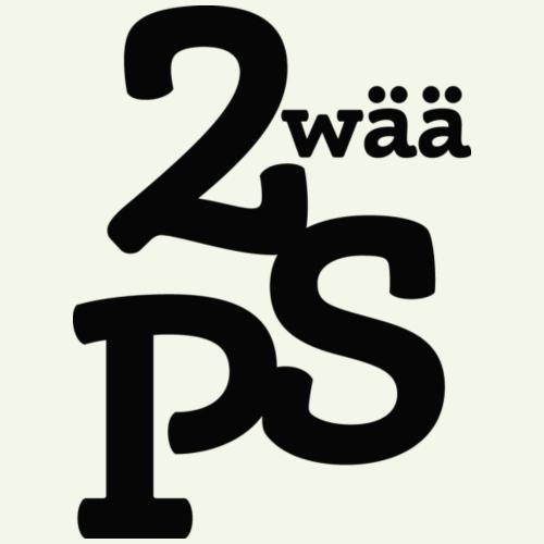 Zwää PS Logo schwarz - Frauen T-Shirt