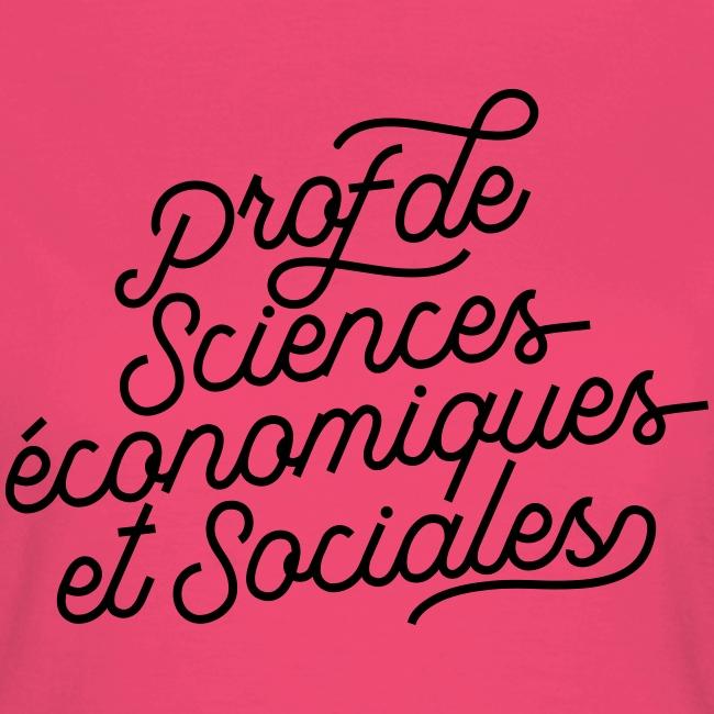 Prof de sciences économiques et sociales