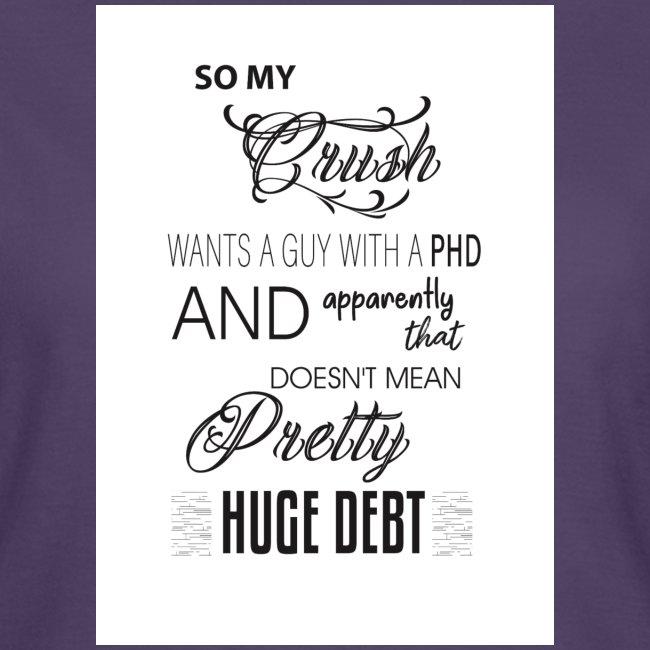 Who's got a PHD.