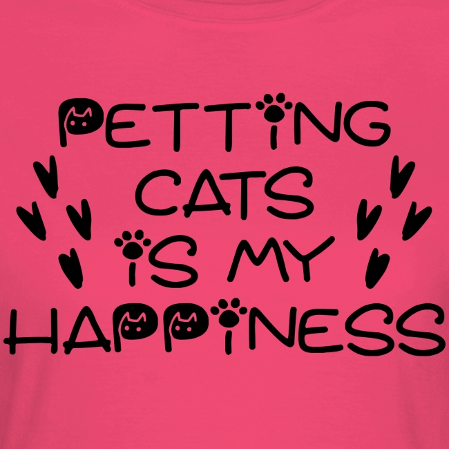 Petting cats is my happiness
