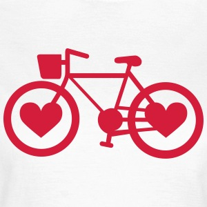 Bike Heart - Dame-T-shirt