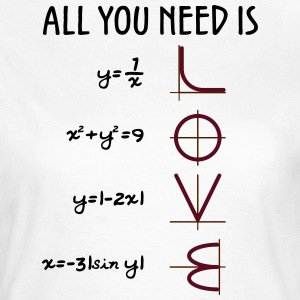 All you need is Love (Equations) - Frauen T-Shirt