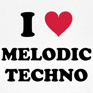 I LOVE TECHNO MELODIC - T-skjorte for kvinner