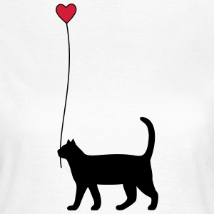 Cat with heart balloon - Women's T-Shirt