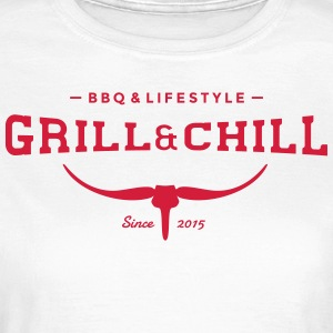 Grill and Chill / barbecue e Lifestyle Logo 2 - Maglietta da donna