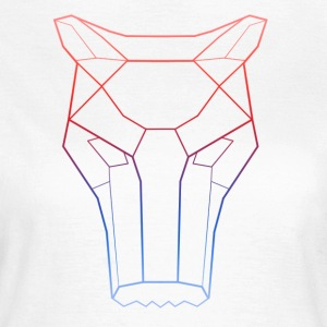 Mocking Wolf Blue Red Mask - Frauen T-Shirt