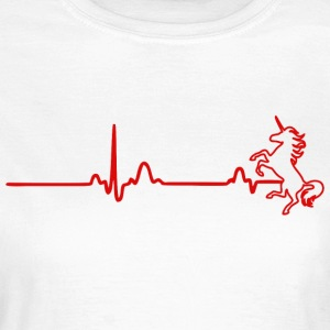 ECG HEART LINE INHORN red - Women's T-Shirt