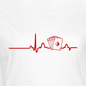 EKG Heart Linje Poker, Cards - Dame-T-shirt