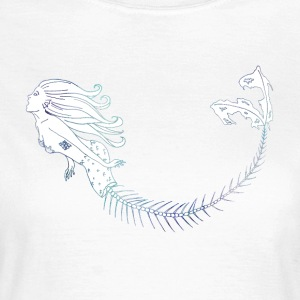 Mermaid Blue Outlines - Women's T-Shirt