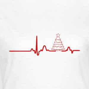 EKG heart line tree - Women's T-Shirt