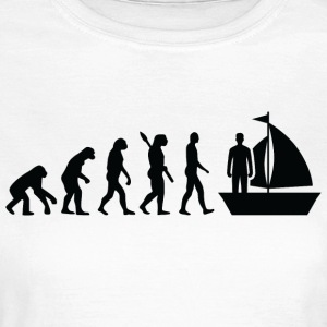 Evolution sejlads sømand sømand b - Dame-T-shirt