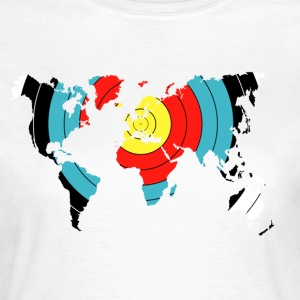 Bågskytte World Map - T-shirt dam