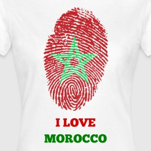 I LOVE MOROCCO FINGERABDRUCK T-SHIRT - Frauen T-Shirt