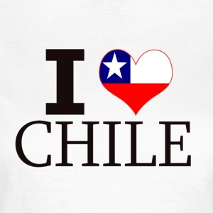 I LOVE CHILE - Dame-T-shirt