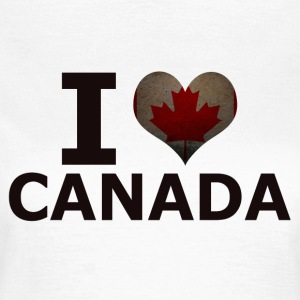 I LOVE CANADA FLAG - T-skjorte for kvinner