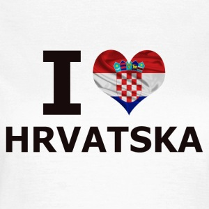 I LOVE KROATIA FLAG - T-skjorte for kvinner