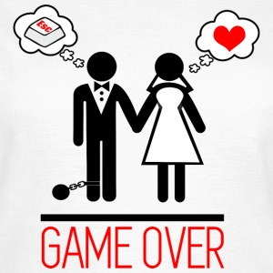 Game over - Paar - Bachelor - Vrouwen T-shirt