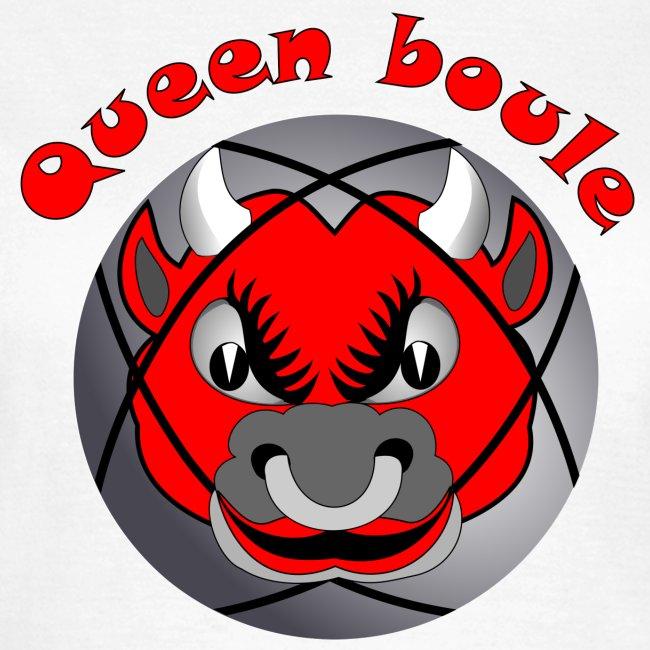 t shirt Queen boule reine pétanque tireur pointeur