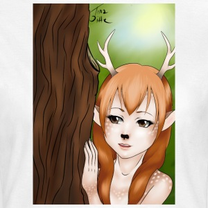 Mens Tank: Deer-girl design by Tina Ditte - Women's T-Shirt