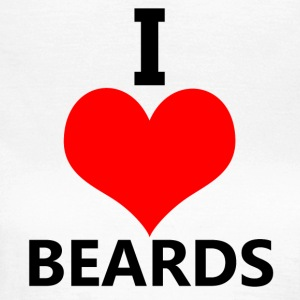 I Love Beards sjove ordsprog - Dame-T-shirt