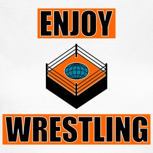 ENJOY_WRESTLING_ORANGE_DesASD - Camiseta mujer