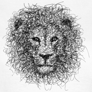 Lion Scribble - T-skjorte for kvinner