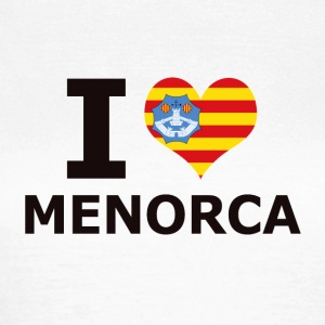 I LOVE MENORCA FLAG - T-skjorte for kvinner