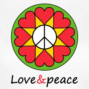 Love & peace Mandala - Women's T-Shirt