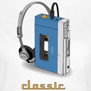 CLASSIC-WALKMAN retro design, blue - Women's T-Shirt