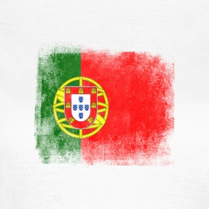Portugal Flag Proud Portoguese Vintage Distressed - Dame-T-shirt