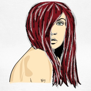 Red Hair Woman - T-skjorte for kvinner