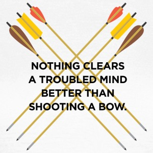Nothing clears a troubled mind better than archery - Women's T-Shirt