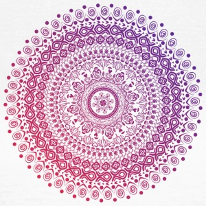Mandala in red and purple tones, hand drawn - Women's T-Shirt