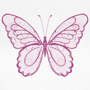Butterfly in pink, hand drawn - Women's T-Shirt