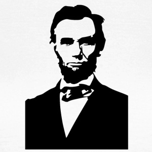 abraham lincoln stencil - Women's T-Shirt