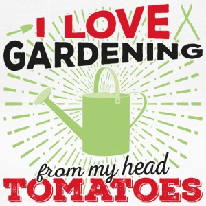 I love gardening from my head tomatoes! (dark) - Frauen T-Shirt