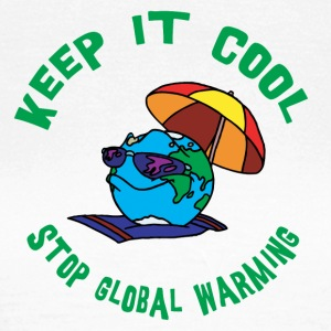 Jordens Dag Stop Global Warming - Dame-T-shirt