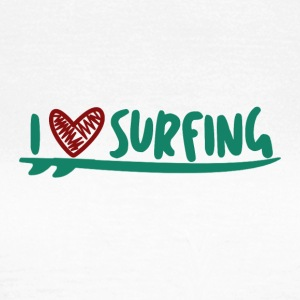LOVE THE SURF - Vrouwen T-shirt