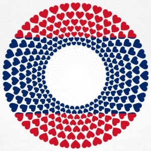 Laos / ເທດ ລາວ ລາວ Love HEART Mandala - Women's T-Shirt