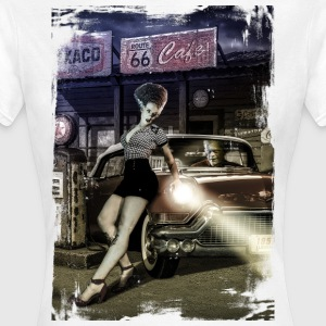 monster_cadillac_vertical_color - Camiseta mujer