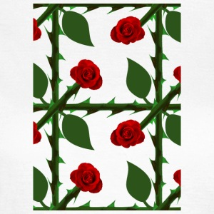 Red Rose Pattern - T-skjorte for kvinner