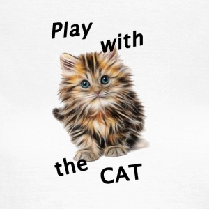 Play_Cat_Black2 - Dame-T-shirt