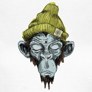 Monkey med hat - Dame-T-shirt
