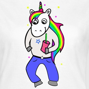 Unicorn disco with drink - Women's T-Shirt