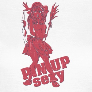 naked breast pin up girl red - Women's T-Shirt
