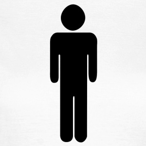 Man - toilet - pictogram - Toilet sign - Women's T-Shirt